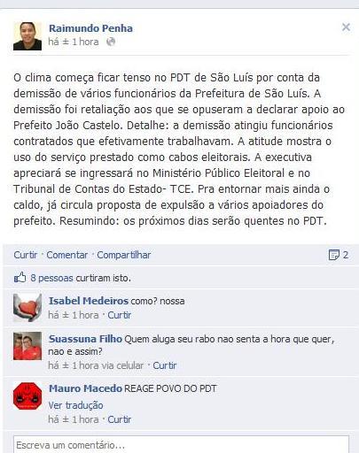 CASTELO COMEÇA A DEMITIR FUNCIONÁRIOS QUE NÃO DECLARAM APOIO A SUA REELEIÇÃO
