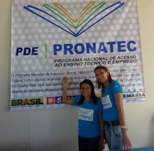 Secretária de Assistência Social Albertina Tavares e a Assistente Social Sônia Maria: gestão de excelência no Pronatec de Coelho Neto