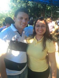 Zé do Gás e a pré-candidata a prefeita Nádia Borges: renovação jovem na política de Afonso Cunha